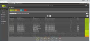 Übersicht des Backups vom Mailverkehr im Hornetsecurity Control Panel