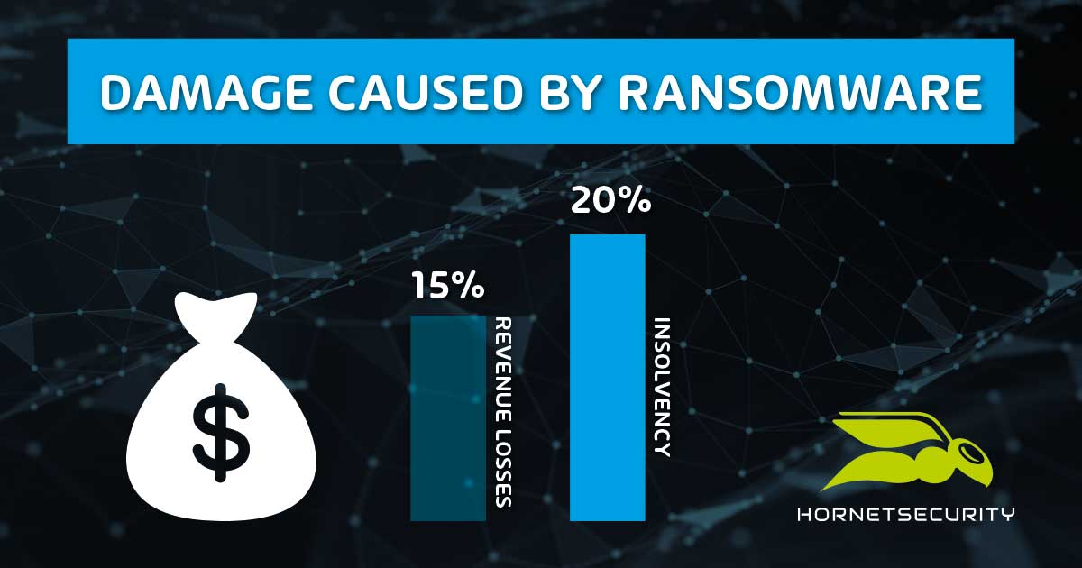 Damage caused by ransomware