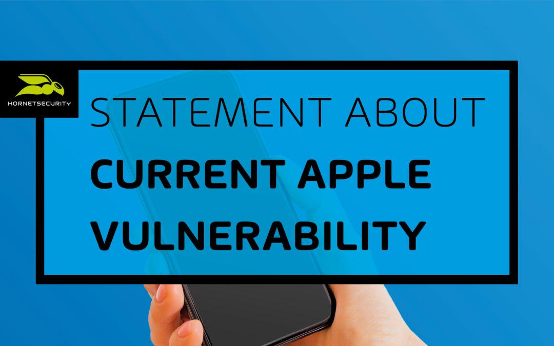 Hornetsecurity analiza la brecha de seguridad en la app de correo electrónico de Apple