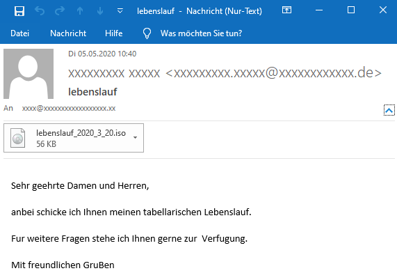 Initial email
