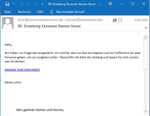 Variante der ersten E-Mail