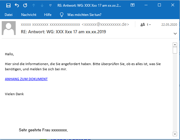 Initial Email Variant