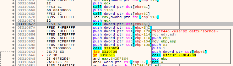 TrickBot profiling the system.