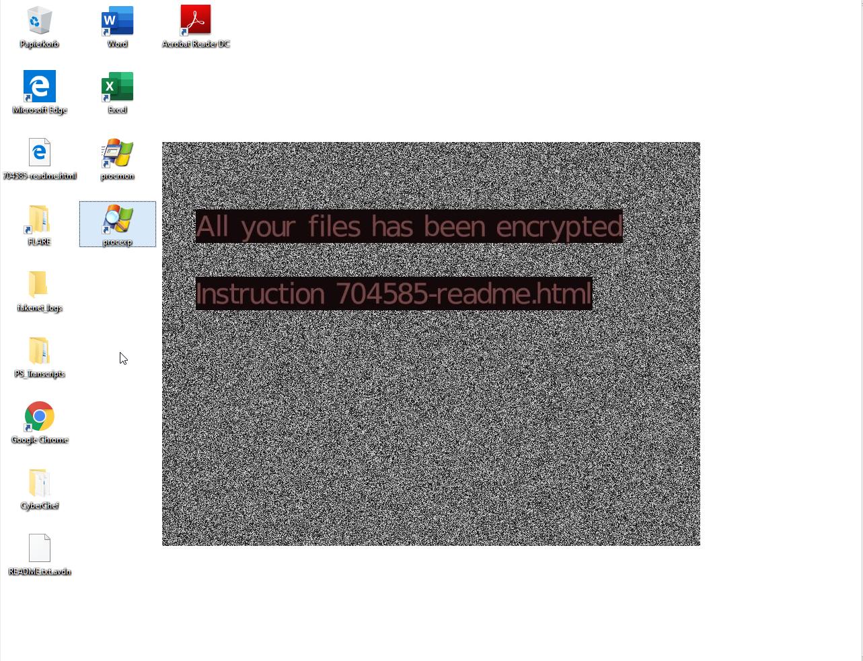 Avaddon ransomware desktop background