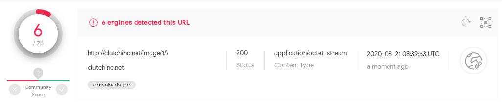 Emotet loader download URL detected again on VirusTotal